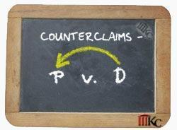 A countersuit, or counterclaim, involves a defendant suing the plaintiff in a case.